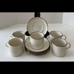 J&G Meakin by Lifestyle speckled cups and saucers